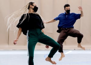 Rehearsals for Rambert's forthcoming real-time, live-stream world premiere performances of Wim Vandekeybus's Draw From Within