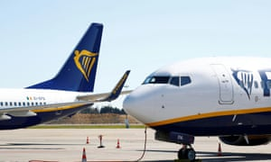 Ryanair planes on the runway