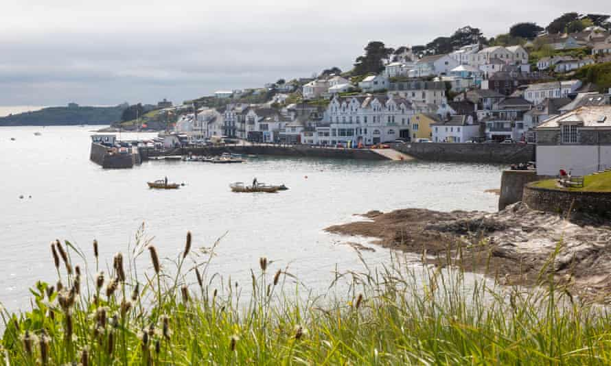 View of bay of St Mawes in Cornwall
