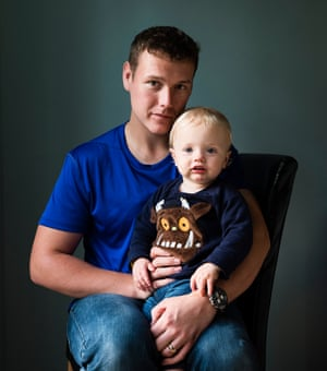 Gareth Down with his son, Reece