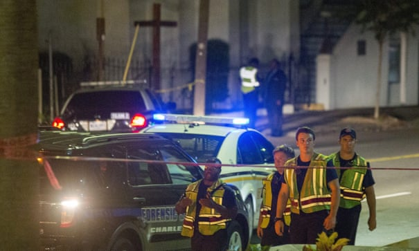 South Carolina church shooting: police hunt gunman after 'hate crime