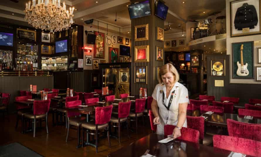 Delia Lees Server at the Hard Rock Cafe for 48 years Long Service: London IG: @longservicelondon
