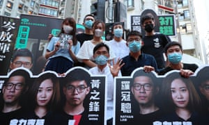 Pro-democracy activists campaign in Hong Kong last weekend.