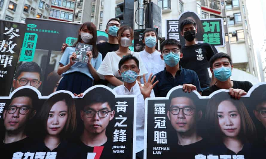 Campaigning for Hong Kong's primary elections. China says the polls by Hong Kong's pro-democracy parties were a 'serious provocation'.
