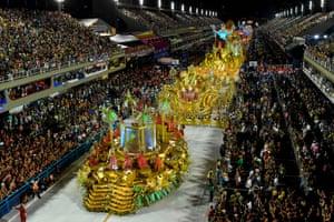 The Viradouro samba school's floats in the carnival parade