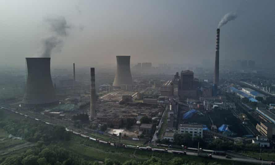 A state-owned coal-fired power plant i in Huainan, Anhui province, China