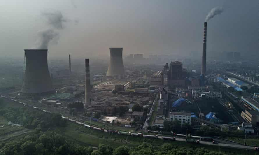 A coal-fired power plant in China