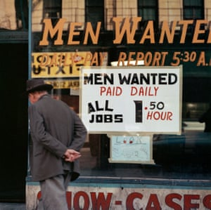 Men Wanted shopfront, Chicago, 1966The details that caught the Italian photographer's eye – from shopfront signage to hairdos and queueing habits – belie the outsider's perspective with which he approached his subject.