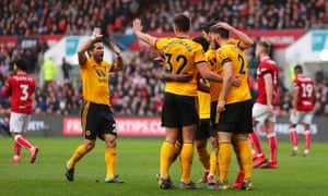 Wolverhampton Wanderers celebrate their goal