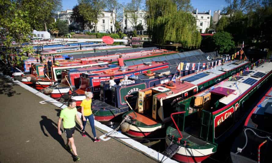 Narrowboats in Little Venice, west London.