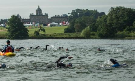 Triathlon at Castle Howard, Yorks