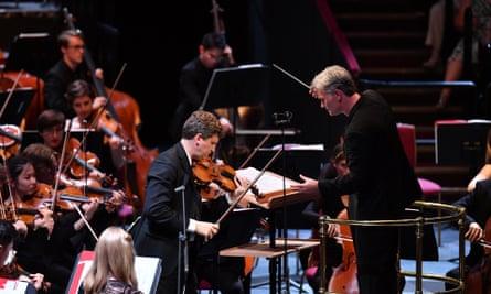 Refined lyricism ... James Ehnes and Edward Gardner at the Royal Albert Hall.