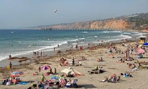 Beach at La Jolla Shores, San Diego. USA.