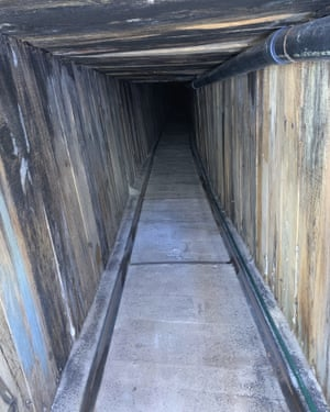 A section of an incomplete tunnel found stretching from Mexico to Arizona.