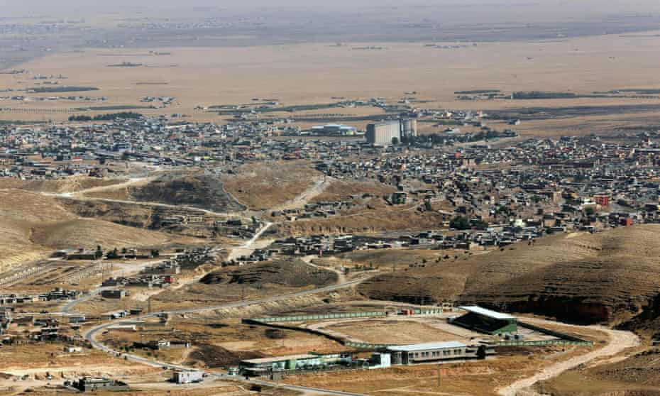 The northern Iraqi town of Sinjar, west of Mosul.