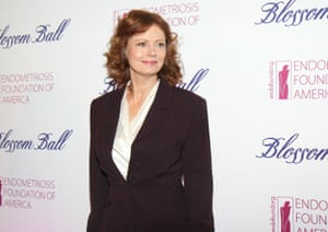 Susan Sarandon at annual Blossom Ball benefiting the Endometriosis Foundation of America