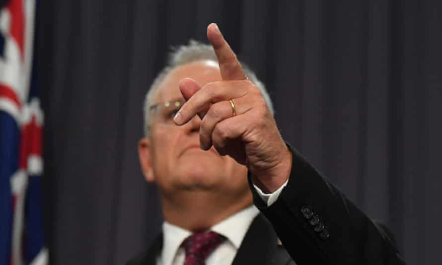 Prime Minister Scott Morrison at a press conference at Parliament House in Canberra