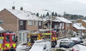 Emergency services at Allington Drive, Birstall, Leicestershire