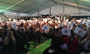 School groups took part in a real life version of the Guardian's Fake or for real Instagram series at the Hay Festival Programme for Schools.