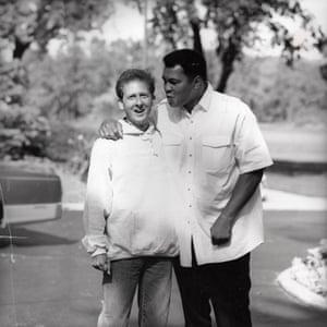 Davis Miller and Muhammad Ali at Ali's home in Berrien Springs, Michigan, September 1992.