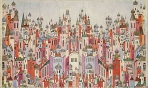 Natalia Goncharova's set design for the final scene of the ballet The Firebird.