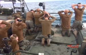 The detainees – including one woman – were held overnight at an Iranian base on Farsi Island