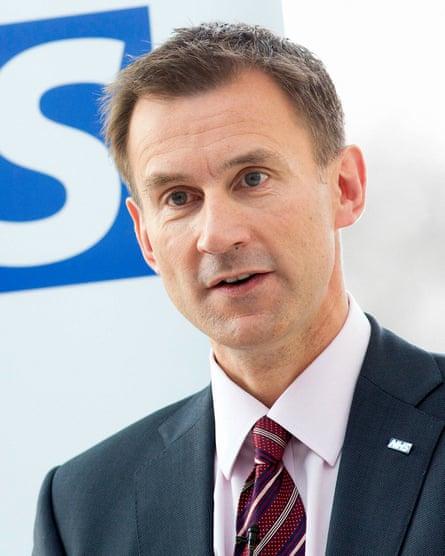 Health Secretary Jeremy Hunt.