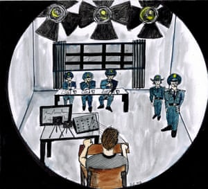 The interrogation of Peter Dahlin as described by him to the Chiang Mai-based Mexican-American artist Nicolas Luna Fleck