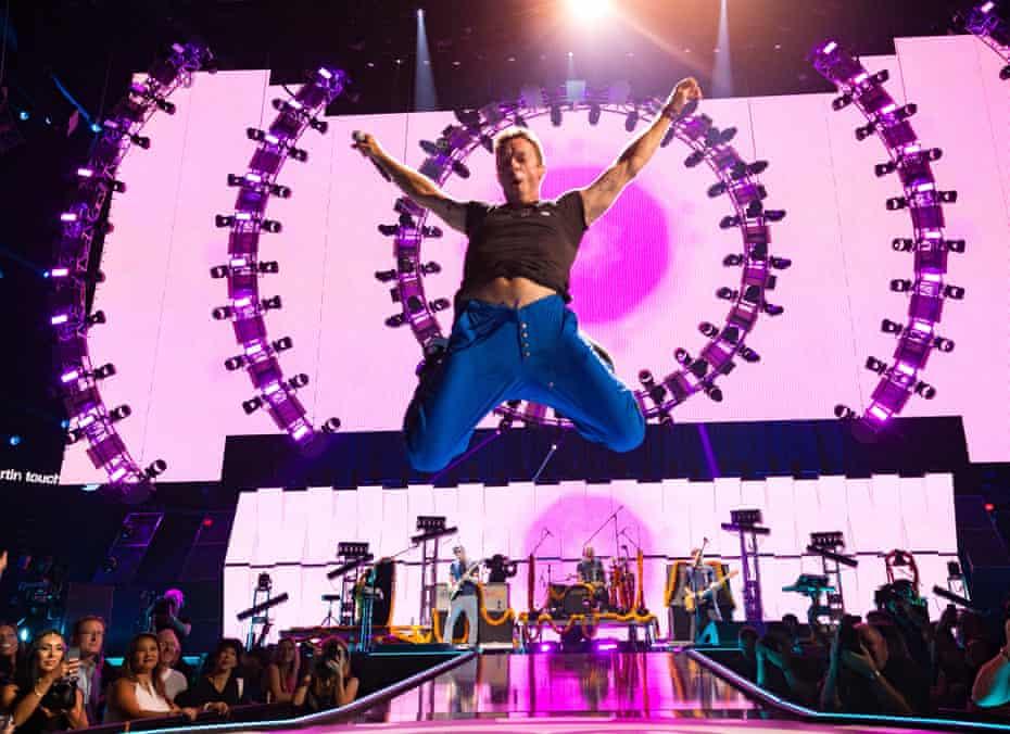 Coldplay performing in Las Vegas
