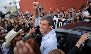 Beto O'Rourke at a rally in San Antonio in the run-up to Tuesday's election. In just 19 months, almost unassisted, he took the Texan Democratic party from a moribund condition and brought it back to life.