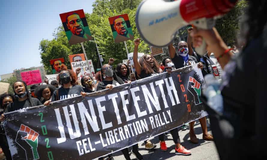 A 19th rally in Brooklyn, New York, last year.