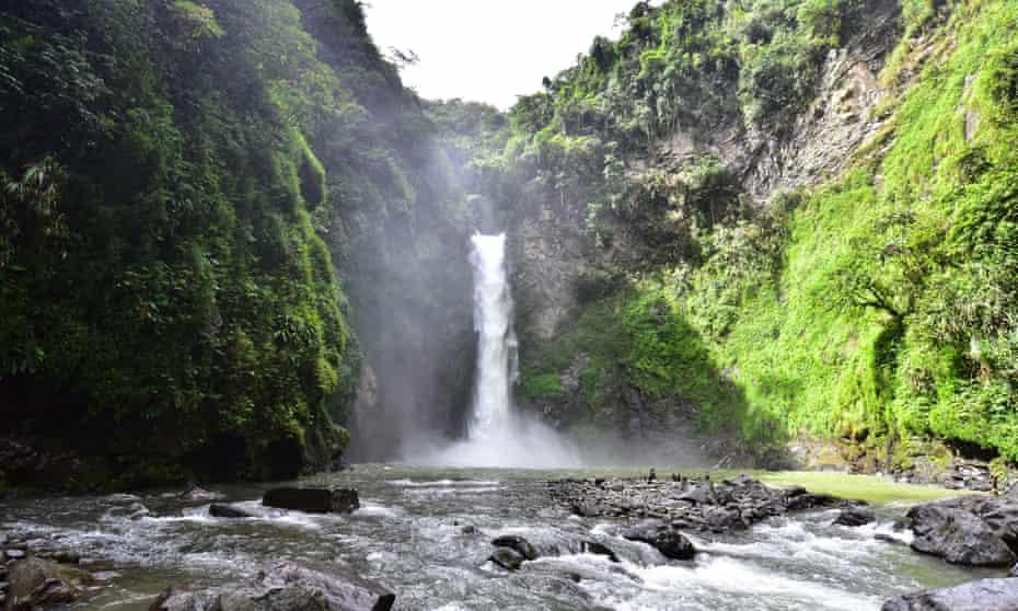 Tappiya falls in Batad, Philipines