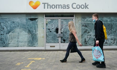 An emty Thomas Cook shop in Middlesbrough