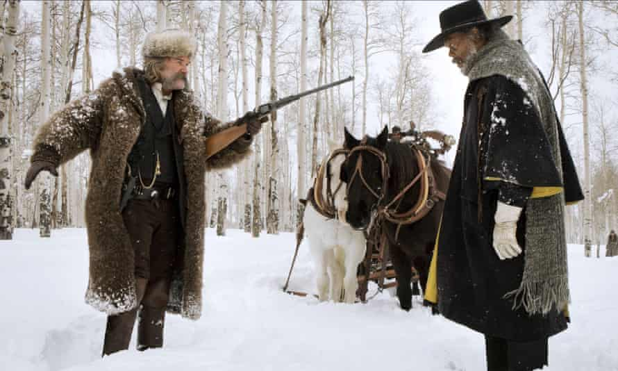 'Samuel J Jackson is glittering of eye, steely of will, vengeful of manner; his presence is as potent as a nugget of sodium' … with Kurt Russell in The Hateful Eight