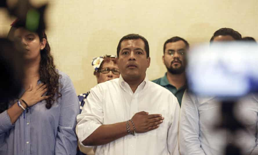 Félix Maradiaga was arrested after being called to the attorney general's office to provide a statement.