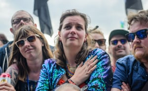 Fans watch Kate Tempest perform at West Holts stage Glastonbury Festival