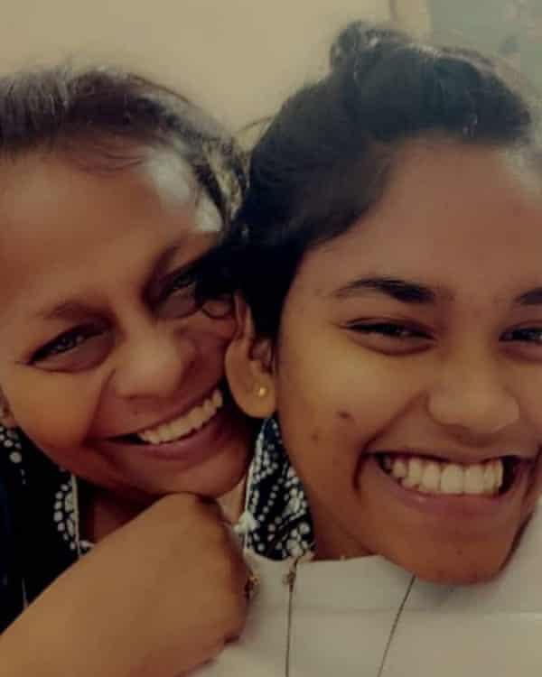 Kakoli Bhattacharya with her daughter Khushi