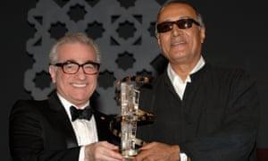 Kiarostami with Martin Scorsese , Morocco 2005.