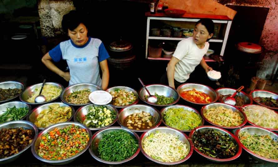 A food stall in Jinan, Shandong province.
