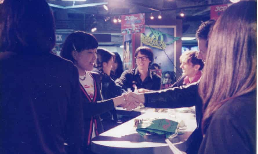 Kaoru meeting Silver Sun in Tokyo, April 1997