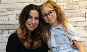 Sarah Yarnold and her seven-year-old daughter Darcy.