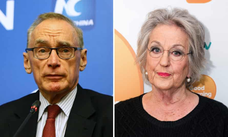 (L) Bob Carr and (R) Germaine Greer.