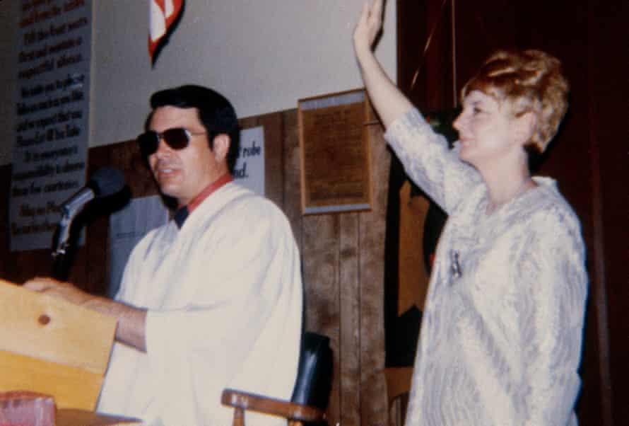 The Rev Jim Jones and his wife, Marceline, taken from a photo album found in Jonestown, Guyana.