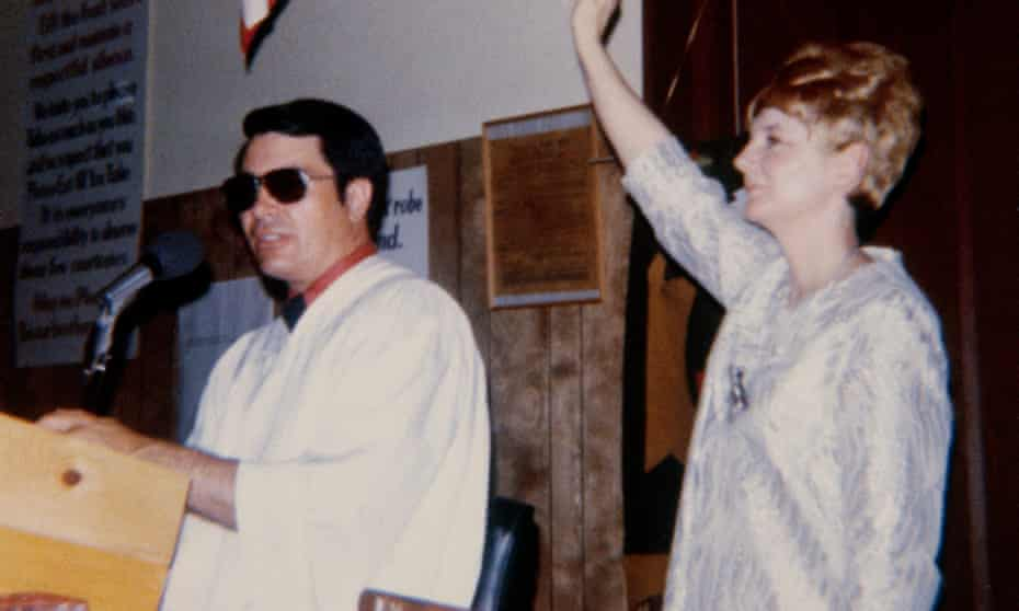 Reverend Jim Jones and his wife, Marceline