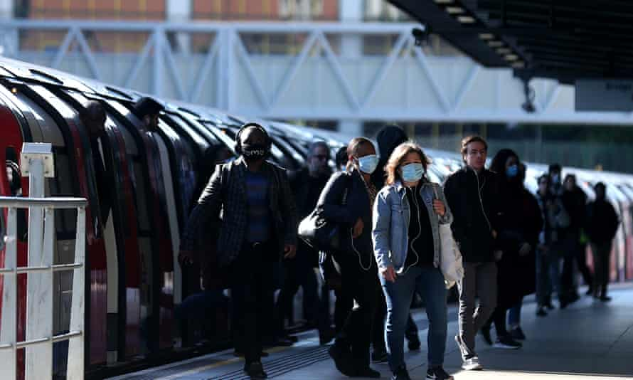 Commuters at Stratford station in east London.
