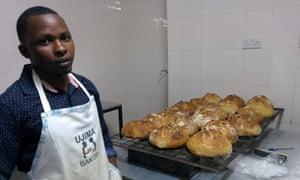 Head baker Jastan Kimani at Ujima Bakehouse