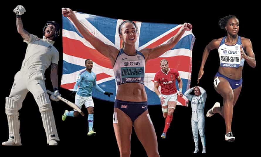 Ben Stokes, Raheem Sterling, Katarina Johnson-Thompson, Alun Wyn Jones, Lewis Hamilton and Dina Asher-Smith.