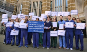 Junior doctors delivering a petition to the Department of Health signed by more than 50,000 people