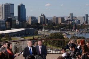 Bill Shorten and WA Labor Opposition leader Mark McGowan