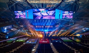 Expertly directed ... the Fortnite World Cup at the Arthur Ashe stadium, Flushing Meadows, New York.